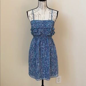 Lauren Conrad Blue Floral Dress